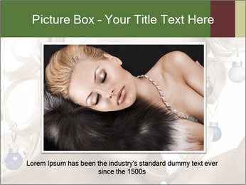 Fashion shot of a blond girl PowerPoint Template - Slide 16