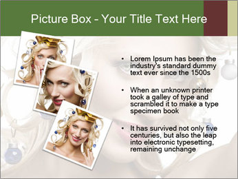 Fashion shot of a blond girl PowerPoint Template - Slide 17