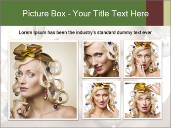 Fashion shot of a blond girl PowerPoint Templates - Slide 19