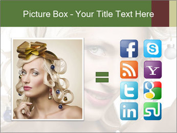 Fashion shot of a blond girl PowerPoint Template - Slide 21