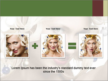 Fashion shot of a blond girl PowerPoint Template - Slide 22
