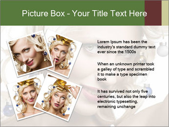 Fashion shot of a blond girl PowerPoint Templates - Slide 23