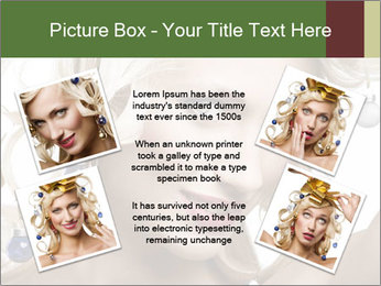 Fashion shot of a blond girl PowerPoint Template - Slide 24
