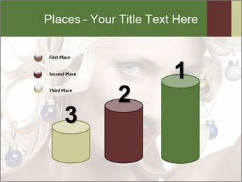 Fashion shot of a blond girl PowerPoint Template - Slide 65