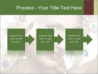 Fashion shot of a blond girl PowerPoint Template - Slide 88