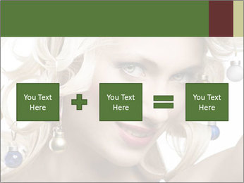 Fashion shot of a blond girl PowerPoint Template - Slide 95