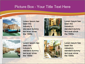 Traditional Venice ride PowerPoint Template - Slide 14