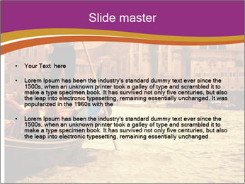 Traditional Venice ride PowerPoint Template - Slide 2