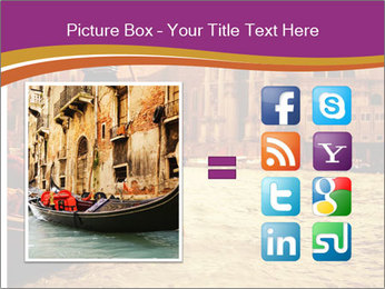 Traditional Venice ride PowerPoint Template - Slide 21