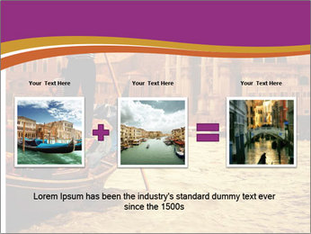 Traditional Venice ride PowerPoint Template - Slide 22