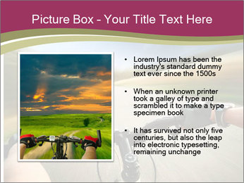 Rider driving bicycle PowerPoint Templates - Slide 13