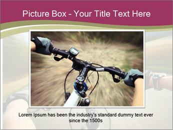 Rider driving bicycle PowerPoint Templates - Slide 15
