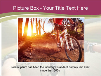 Rider driving bicycle PowerPoint Templates - Slide 16
