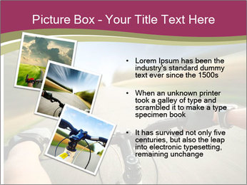 Rider driving bicycle PowerPoint Templates - Slide 17
