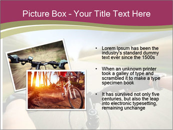 Rider driving bicycle PowerPoint Templates - Slide 20