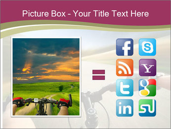 Rider driving bicycle PowerPoint Templates - Slide 21