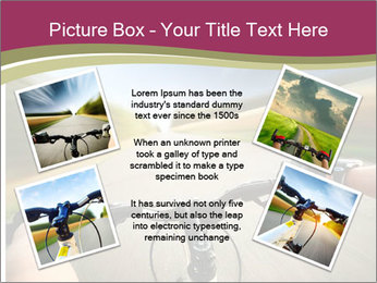 Rider driving bicycle PowerPoint Templates - Slide 24