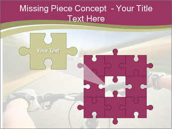 Rider driving bicycle PowerPoint Templates - Slide 45