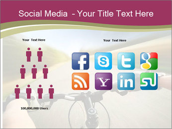 Rider driving bicycle PowerPoint Templates - Slide 5