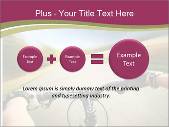 Rider driving bicycle PowerPoint Templates - Slide 75