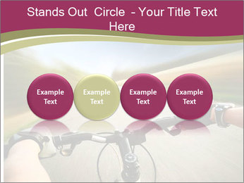 Rider driving bicycle PowerPoint Templates - Slide 76