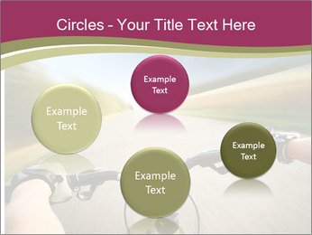 Rider driving bicycle PowerPoint Templates - Slide 77