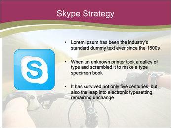 Rider driving bicycle PowerPoint Templates - Slide 8