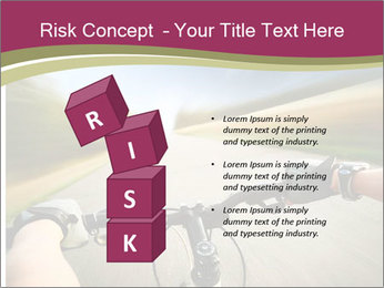 Rider driving bicycle PowerPoint Templates - Slide 81