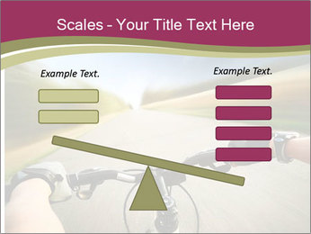 Rider driving bicycle PowerPoint Templates - Slide 89
