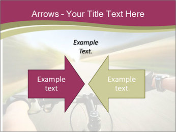 Rider driving bicycle PowerPoint Templates - Slide 90