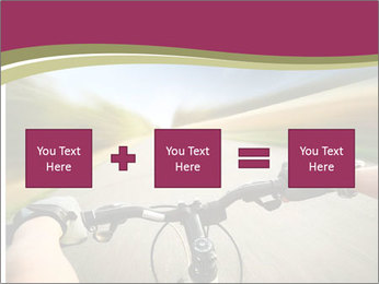 Rider driving bicycle PowerPoint Templates - Slide 95