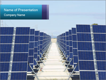 Forefront of solar panels PowerPoint Template