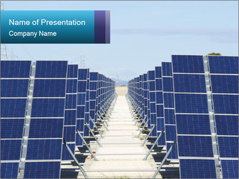 Forefront of solar panels PowerPoint Template - Slide 1