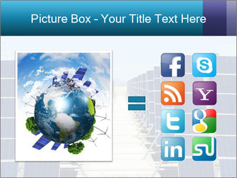 Forefront of solar panels PowerPoint Template - Slide 21