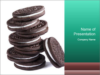Chocolate cream PowerPoint Template - Slide 1