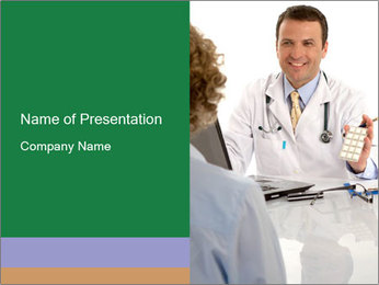 Male doctor PowerPoint Templates - Slide 1