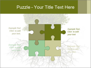 Tree with root PowerPoint Template - Slide 43