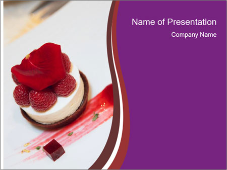 dessert on plate powerpoint template amp backgrounds id