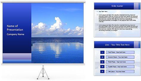 Cloud over the ocean PowerPoint Template