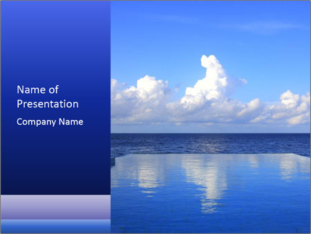 Cloud over the ocean PowerPoint Templates