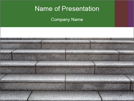WIde stone stairway PowerPoint Templates