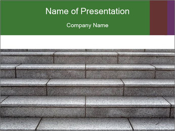 WIde stone stairway PowerPoint Templates - Slide 1