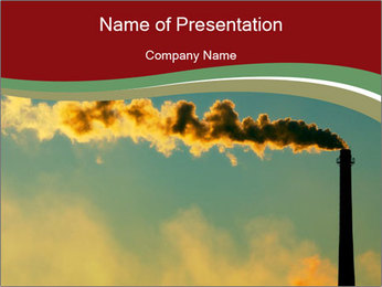 Steam rises PowerPoint Template