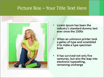 Woman paints PowerPoint Templates - Slide 13