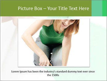 Woman paints PowerPoint Templates - Slide 16