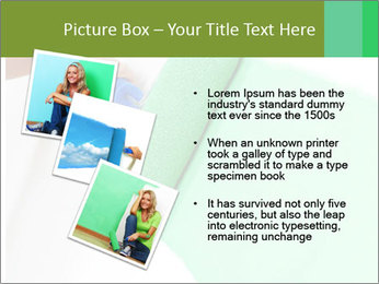 Woman paints PowerPoint Templates - Slide 17