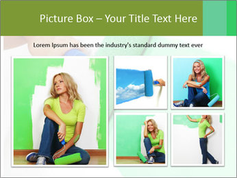 Woman paints PowerPoint Templates - Slide 19