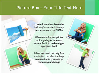 Woman paints PowerPoint Templates - Slide 24