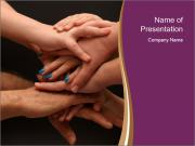 Many hands PowerPoint Templates