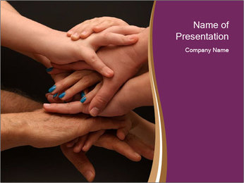 Many hands PowerPoint Template - Slide 1